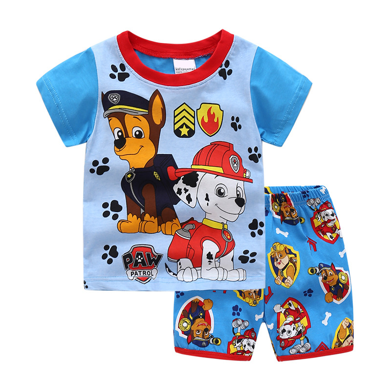 Toddler Kids Boy PAW Patrol Summer Short Pajamas Sleepwear Set Cotton Pjs
