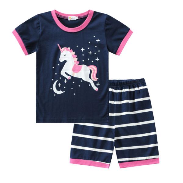 Toddler Kids Girl Prints Unicorns Summer Short Pajamas Sleepwear Set Cotton Pjs