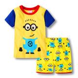 Toddler Kids Boy Minions Summer Short Pajamas Sleepwear Set Cotton Pjs