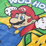 Toddler Kids Boy Super Mario Slogan Summer Short Pajamas Sleepwear Set Cotton Pjs