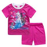 Toddler Kids Girl Frozen Princess Summer Short Pajamas Sleepwear Set Cotton Pjs