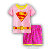 Toddler Kids Boy Super Man Summer Short Pajamas Sleepwear Set Cotton Pjs