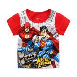 Toddler Kids Boy Captain America Summer Short Pajamas Sleepwear Set Cotton Pjs