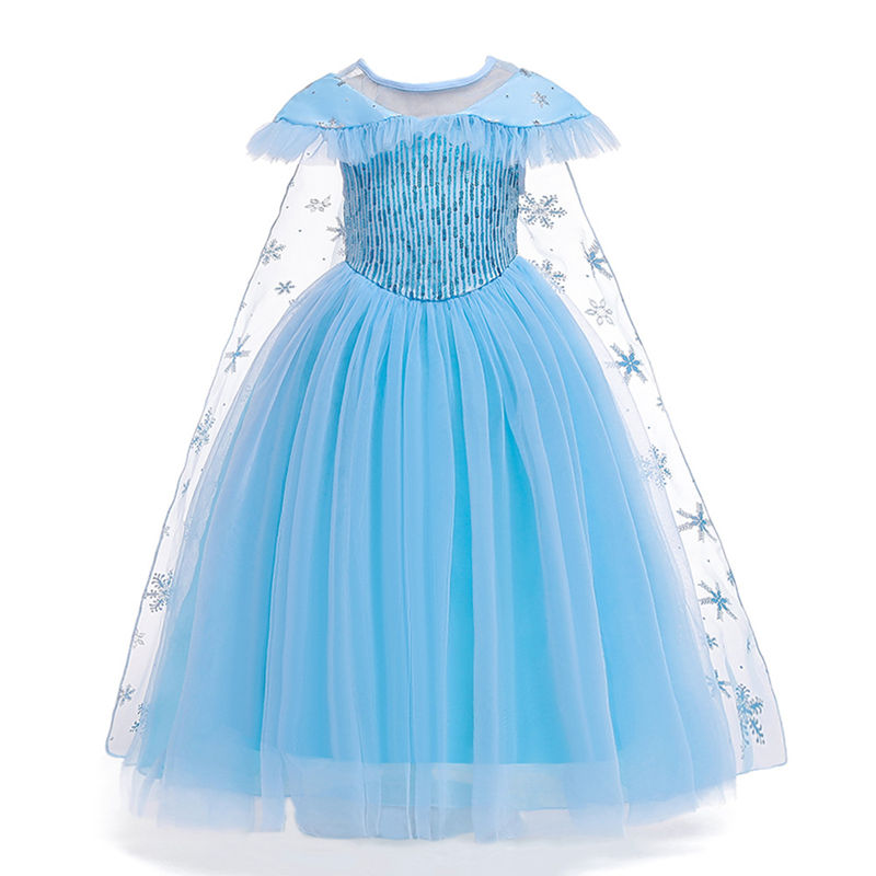 Toddler Girls Frozen Elsa Princess Sequins Tutu Dress