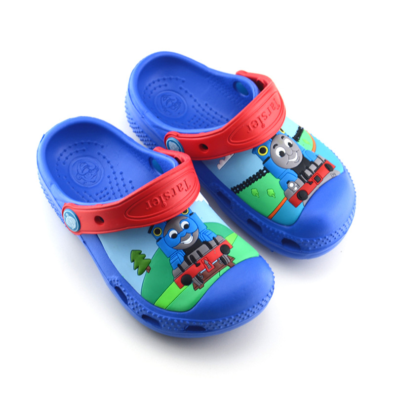 Toddle Kids 3D Thomas Train Home Beach Summer Slippers Shoes