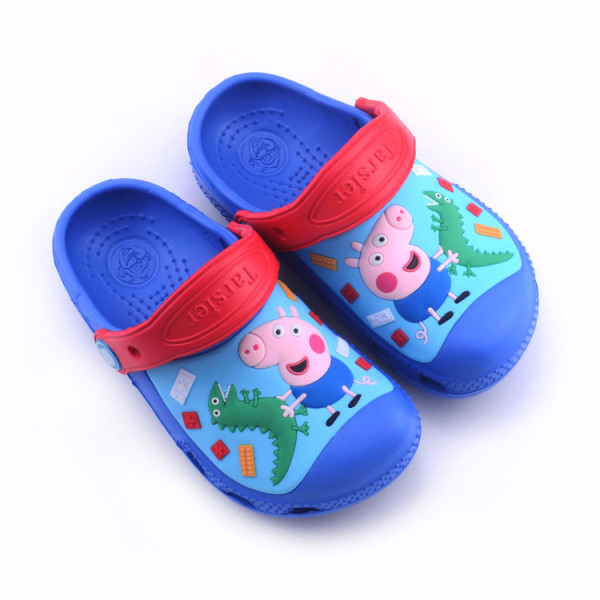 Toddle Kids 3D Peppa George Pig Dinosuar Home Beach Summer Slippers Shoes
