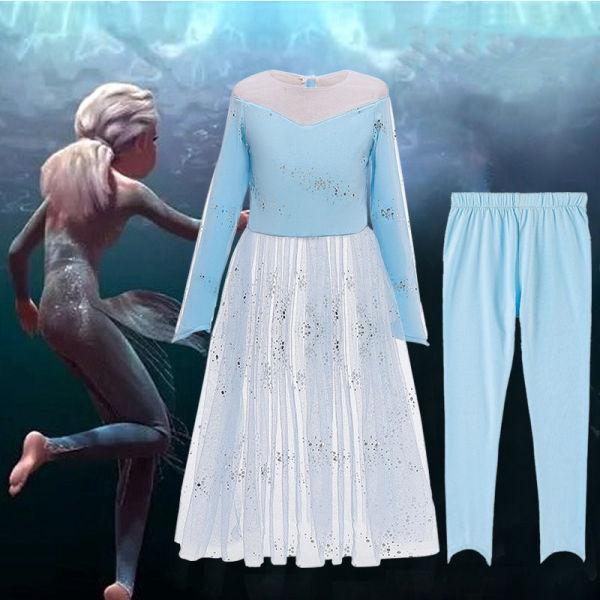 Toddler Girls Frozen Elsa Princess Sequins Dress With Pants Set