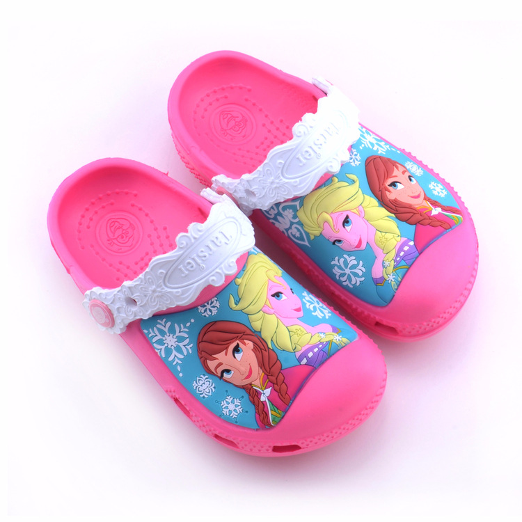 Toddle Kids 3D Frozen Elsa Princess Home Beach Summer Slippers Shoes
