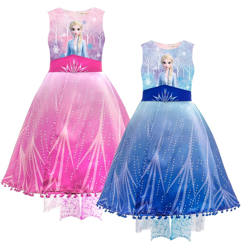 Toddler Girls Frozen Elsa Princess Tutu Dress With Sequins Capelet