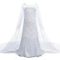 Toddler Girls Frozen White Sequins Elsa Princess Tutu Dress With Free Frozen Accessories 4PCS