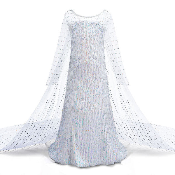 Toddler Girls Frozen White Sequins Elsa Princess Tutu Dress