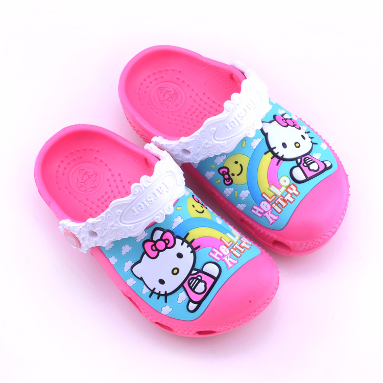 Toddle Kids 3D Hello Kitty Home Beach Summer Slippers Shoes