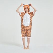 Kids And Adults Orange Tigger Summer Short Onesie Kigurumi Pajamas
