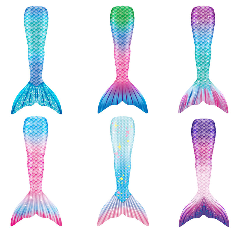 Kid Girls Ombre Starlight Mermaid Tail