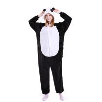 Unisex Adult Pajamas White and Black Panda Animal Cosplay Costume Pajamas
