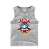 Toddler Boy Print Thomas & Friends Train Sleeveless Cotton Vest for Summer