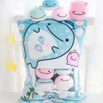 Cute Bag of Whales Plush Soft Toy Throw Pillow Pudding Pillow Creative Gifts