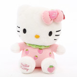 Cute Hellokitty Fruits Strawberry Orange Apple Soft Stuffed Plush Animal Doll for Kids Gift