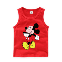 Toddler Boy Print Mickey Mouse Sleeveless Cotton Vest for Summer