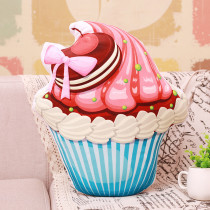 Simulation 3D Bowknot Cake Ice Cream Soft Stuffed Plush Animal Doll for Kids Gift