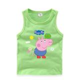 Toddler Boy Print Cartoons Peppa Pig Frog Sleeveless Cotton Vest for Summer