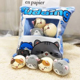 Cute Bag of Chi's Sweet Cats Plush Soft Toy Throw Pillow Pudding Pillow Creative Gifts