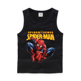 Toddler Boy Print Marvel Spiderman Slogan Sleeveless Cotton Vest for Summer