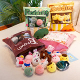 Cute Bag of Peach Flamingos Plush Soft Toy Throw Pillow Pudding Pillow Creative Gifts