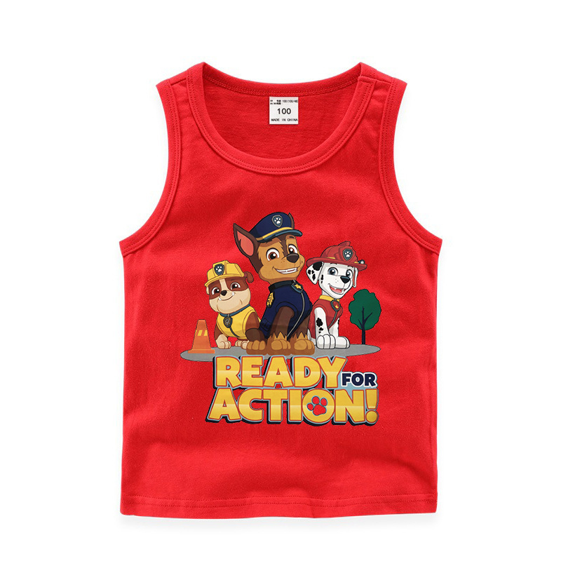 Toddler Boy Print Cartoons PAW Patrol Sleeveless Cotton Vest for Summer