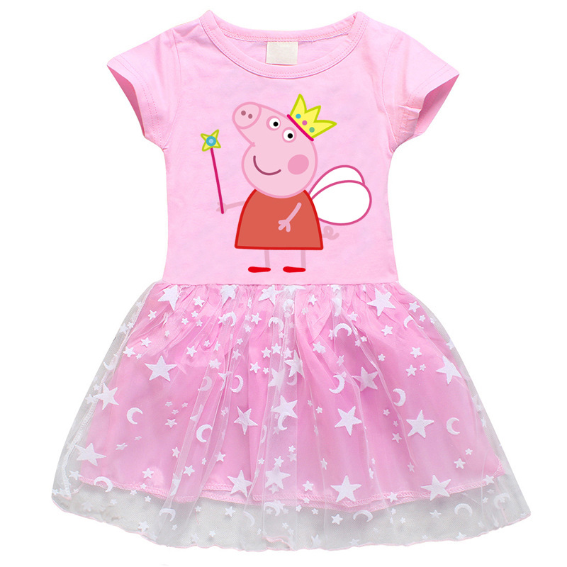 Toddler Girls Angel Peppa Pig A-Line Lace Tutu Dresses