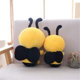 Yellow Honeybee Soft Stuffed Plush Animal Doll for Kids Gift