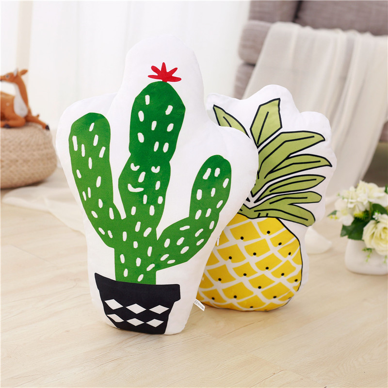 Cactus Pineapple Soft Stuffed Plush Animal Doll for Kids Gift