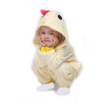 Kids Yellow Chick Onesie Kigurumi Pajamas Animal Cosplay Costumes for Unisex Children
