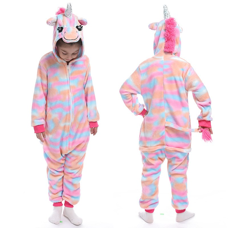 Kids Colorful Union Onesie Kigurumi Pajamas Animal Cosplay Costumes for Unisex Children