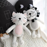 Cute Cat and Lion Soft Stuffed Plush Animal Doll for Kids Gift