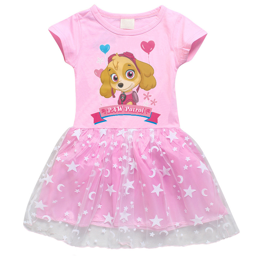 Toddler Girls PAW Patrol Dogs A-Line Lace Dresses