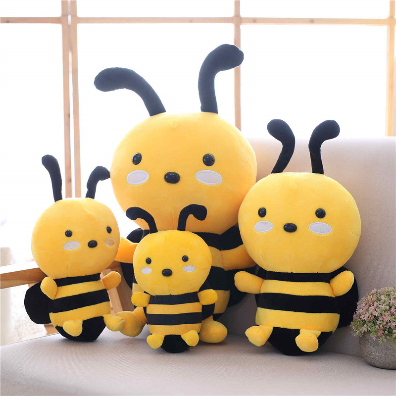 Yellow Honeybee Soft Stuffed Plush Animal Doll for Kids Gift