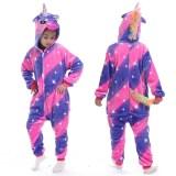 Kids Fancy Diamond Unicon Onesie Kigurumi Pajamas Animal Cosplay Costumes for Unisex Children