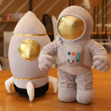 Rocket and Astronaut Pillow Cushion Stuffed Dolls for Kids Gift