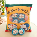 Cute Bag of Blue Doraemon Plush Soft Toy Throw Pillow Pudding Pillow Creative Gifts