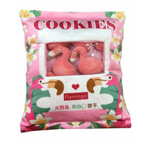 Cute Bag of Peach Flamingos Plush Soft Toy Throw Pillow Pudding Pillow Creative Gifts