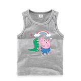 Toddler Boy Print Peppa Pig George and the character is George and his dinosaur under the rainbow