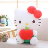 Cute Hello Kitty Fruits Strawberry Apple Grape Soft Stuffed Plush Animal Doll for Kids Gift