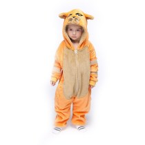 Kids Orange Cat Onesie Kigurumi Pajamas Animal Cosplay Costumes for Unisex Children