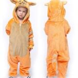 Kids Orange Cat Onesie Kigurumi Pajamas Animal Cosplay Costumes for Unisex Children