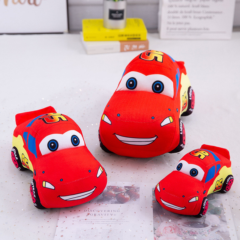 Red Racing Car Soft Stuffed Plush Animal Doll for Kids Gift
