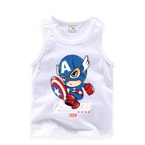 Toddler Boy Print Cartoon Cute Captain America Sleeveless Cotton Vest for Summer