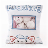 Cute Bag of Cute White Cats Plush Soft Toy Throw Pillow Pudding Pillow Creative Gifts