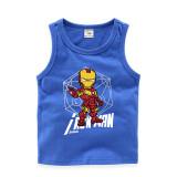 Toddler Boy Print Marvel Iron Man Sleeveless Cotton Vest for Summer