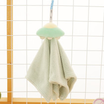 Cute Cartoon Spacecraft Bibulous Square Hanging Towel For Bathroom